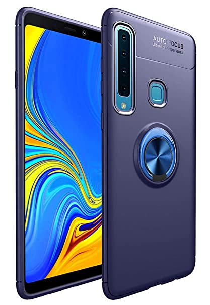 purchase cheap 5880d 8d0b1 Bounceback ® Samsung Galaxy A9 2018 Back Case Cover Shock Proof Ring Stand  Back Cover for Samsung Galaxy A9 2018 (Jet Blue)