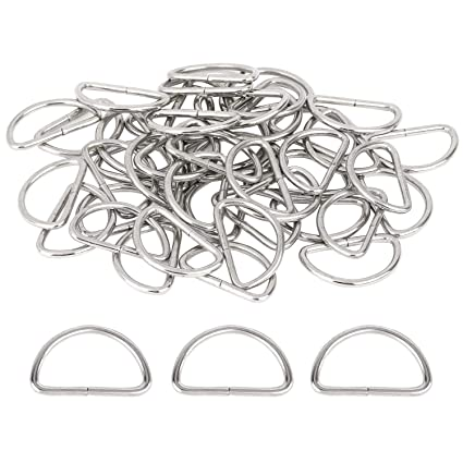 Amazon.com: 150 piezas de anillos en D de metal de 1.0 in de ...