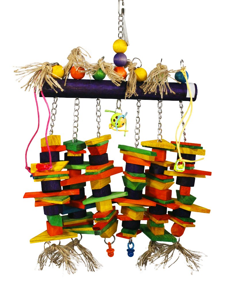Birds LOVE Wood Log of Hanging Chew Fun Toy for Extra Large Birds for Blue & Gold Macaws Military Macaws Moluccan Cockatoos Green-Winged Macaws Hyacinth Macaw and Similar Sized Birds by Birds LOVE