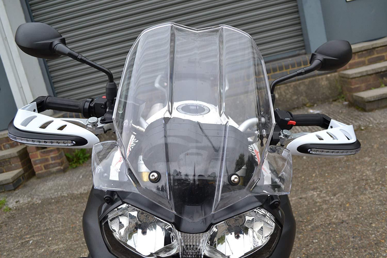 Universale Bianco Moto Paramani con Integrato LED Indicatori//Frecce