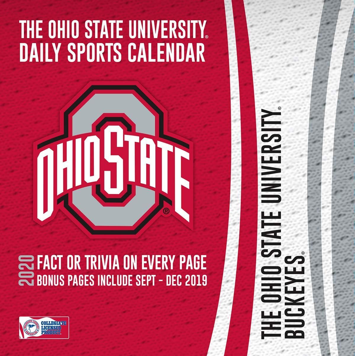 Ohio University 2021-22 Calendar Amazon.: Turner Licensing, 2020 Ohio State Buckeyes Desk