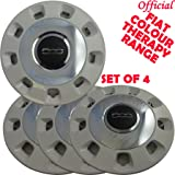 """Genuine Fiat 500 Colour Therapy 14"""" Steel Wheel Trims Covers Caps White Chrome Official Colur Therapy Wheel TrimsChrome inner effect with White rim. SET OF 4"""