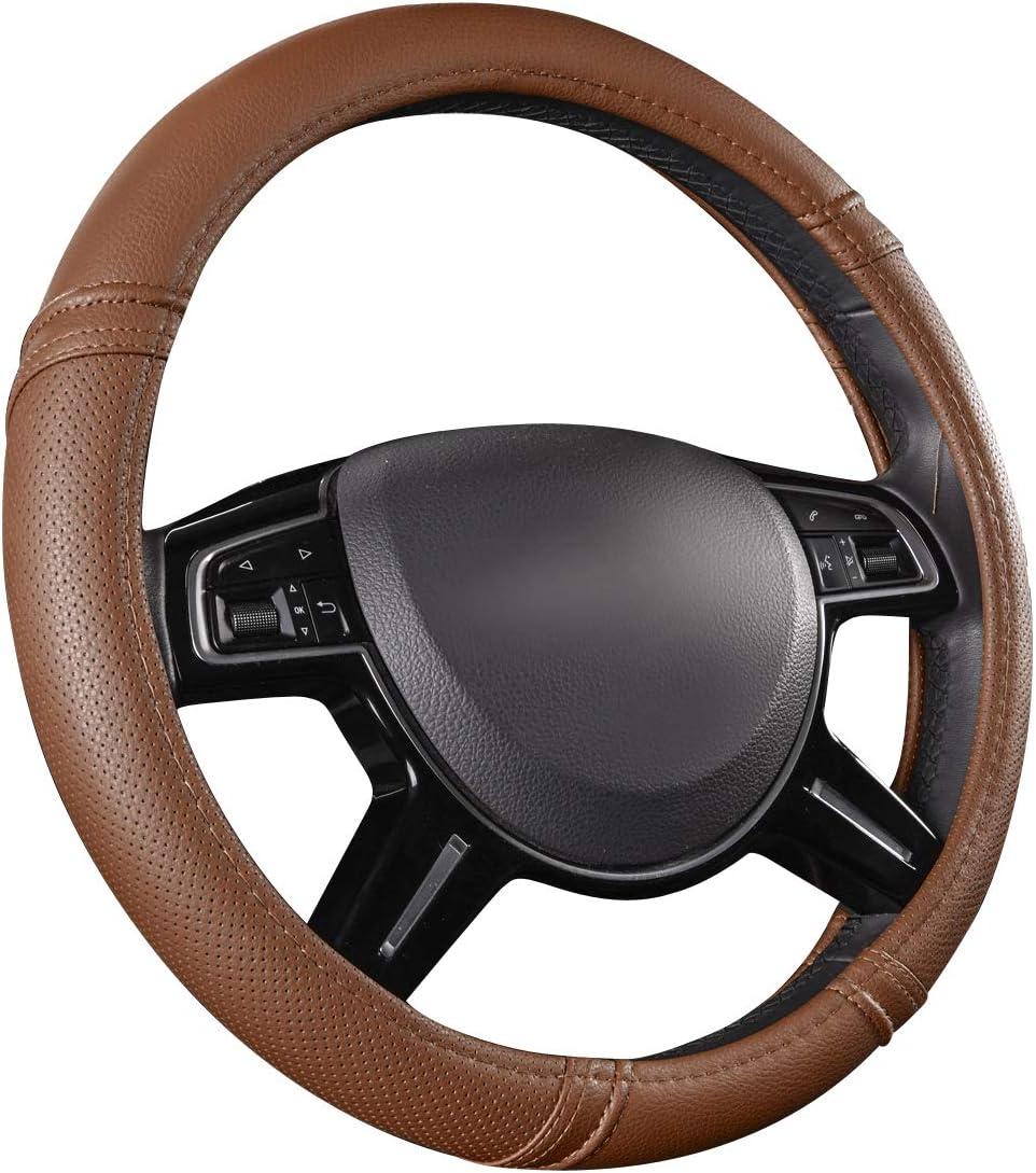 CAR PASS Universal cuero Microfibra Suave Funda para Volante Cubierta del Volante del Coche Universal Di/ámetro 38cm 15