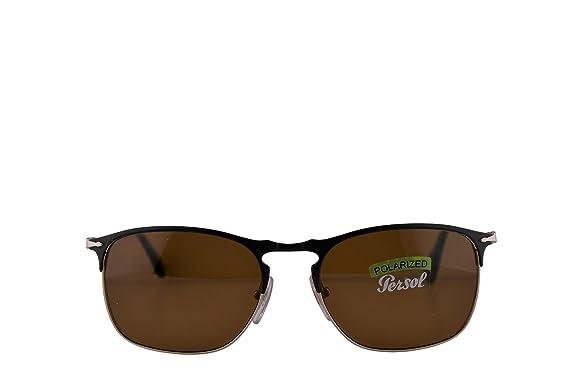 d11f2ddd5b021 Amazon.com  Persol PO7359S Sunglasses Matte Black Gold w Polarized ...