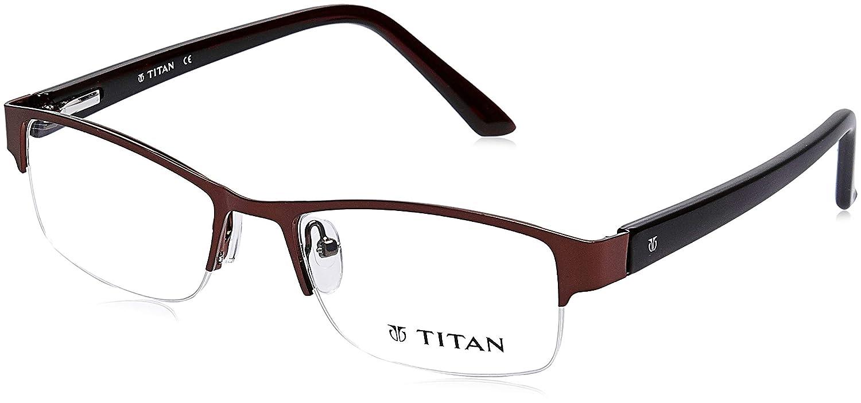 4a5a4b1221 Titan Half Rim Rectangular Women s Spectacle Frame - (TW1127WHM1