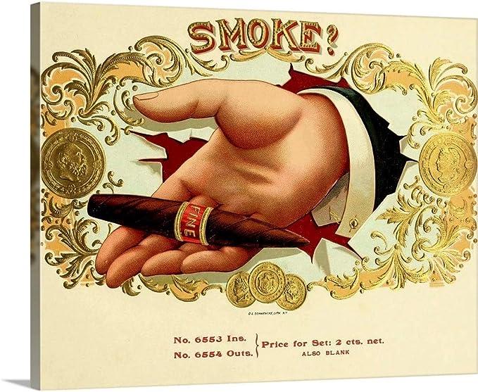 Home Decor Our Standard Vintage Cigar Box Canvas Wall Art Print