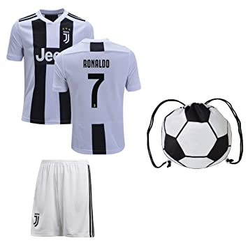 low priced a6938 c5e2b Juventus Cristiano Ronaldo Jersey #7 Youth OR Adult Soccer Gift Set ✓  Ronaldo Soccer Jersey ✓ Shorts ✓ Soccer Backpack ✓ Home or Away