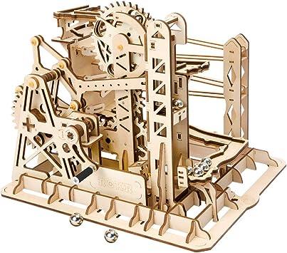 Robotime Marble Roller Coaster Clockwork Mechanical 3D Puzzle Game Woodcraft Kit