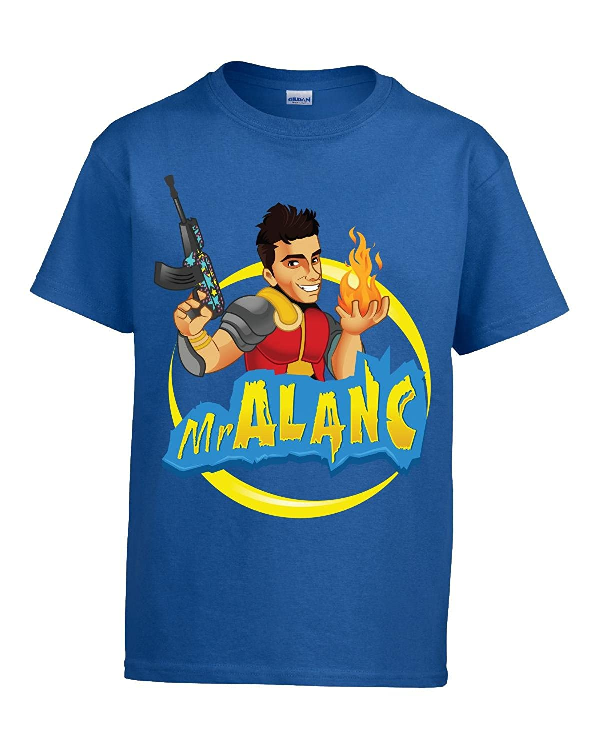 Mralanc Youtube Gaming Personality Official Merchandise-Boys T-shirt Royal