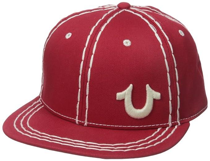 b42beb10 Amazon.com: True Religion Men's Super T Baseball Cap, True Red, One ...