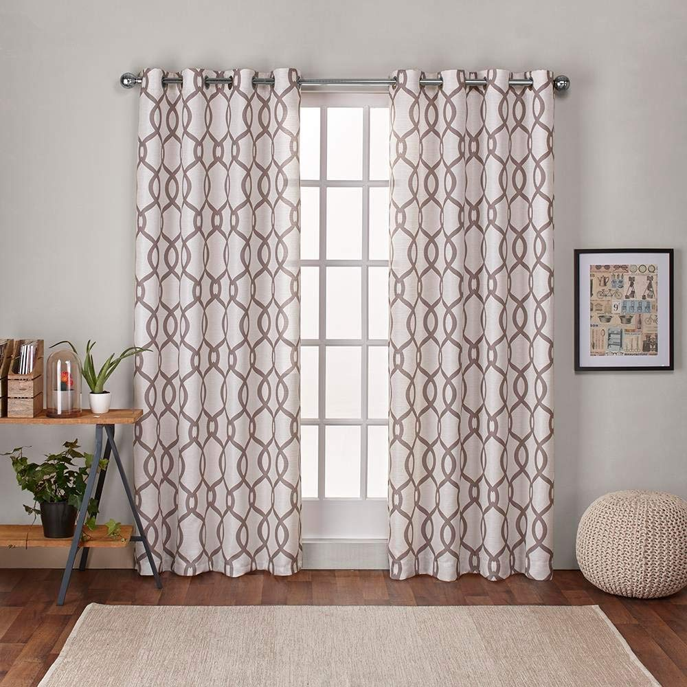 Exclusive Home Curtains Kochi Linen Blend Window Curtain Panel Pair with Grommet Top, 54x96, Natural, 2 Piece