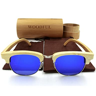 Woodful - Gafas de sol - para mujer Azul Bamboo Color ...