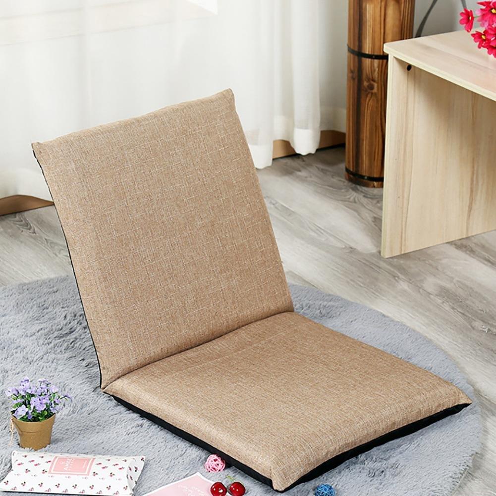 KSUNGB Cloth Cushion balcony Bay window Lounger Chair Lounger Sofa Individual Foldable Small sofa, brown, 11050cm