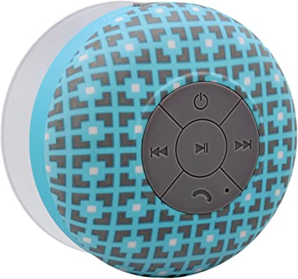 Aduro AquaSound WSP10 Shower Speaker, Portable Waterproof Wireless  Bluetooth Speaker (Square)