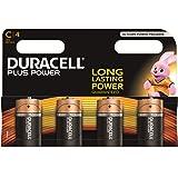 Duracell Plus Power Typ C Alkaline Batterien, 4er Pack