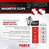 Force Magnet Magnetic Clips Pack of 10 - Premium