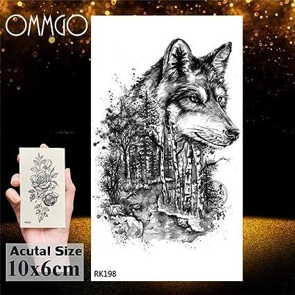 5Pcs- la India tribal Fox del cuerpo del tatuaje etiqueta engomada ...