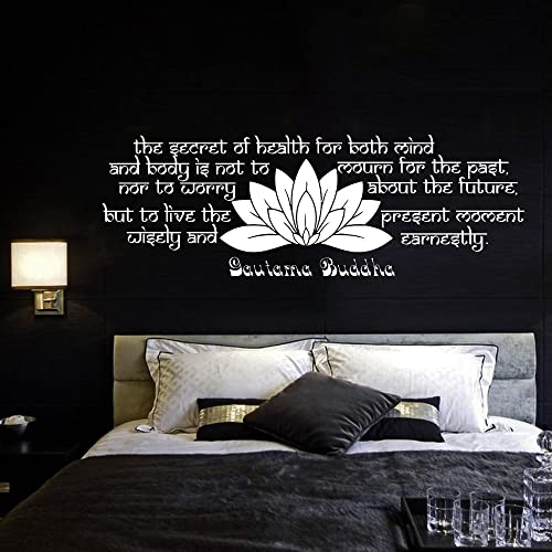 Lovely Wall Decal Quote Vinyl Sticker Decals Quotes Buddha Decal Quote The Secret  Of Health Lotus Flower
