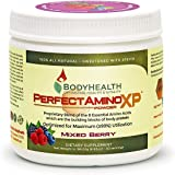 BodyHealth PerfectAmino XP Mixed Berry (30 Servings), Best Pre/Post Workout Recovery Drink, 8 Essential Amino Acids…
