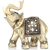 Zerodis Escultura, Elefante Decorativo La Artesanía El Feng Shui Oficina Hogar Decoración Ornamentos Los Regalos Figura Escultura Arte(M)