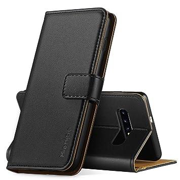 Hianjoo Compatible para Funda Samsung Galaxy S10, Carcasa Samsung S10 de Cuero Suave de la PU con Tapa Cubierta Protectora de la Caso Trasera para ...