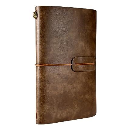 Cuaderno de Cuero, Rymall Cuaderno de Notas de Cuero, Libreta de Viaje Vintage, Cuaderno Vintage Agenda, Diario Cuero Vintage & Diario para Escribir o ...