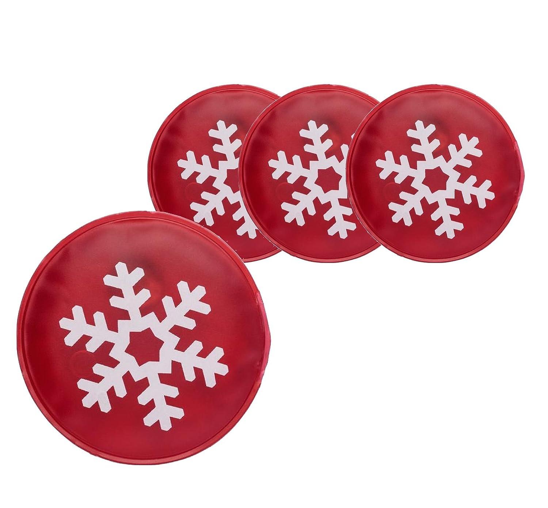 4 calentadores de bolsillo reutilizables para manos y dedos, diseño con motivos de Navidad para niños y adultos, 4x Schneeflocke: Amazon.es: Deportes y aire ...