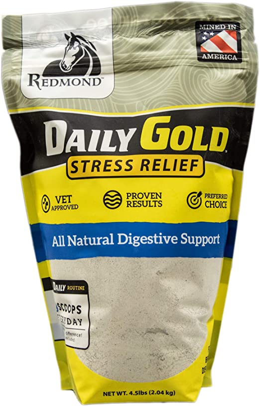 REDMOND Daily Gold Stress Relief, Natural Healing Clay for Gastric Ulcers in Horses