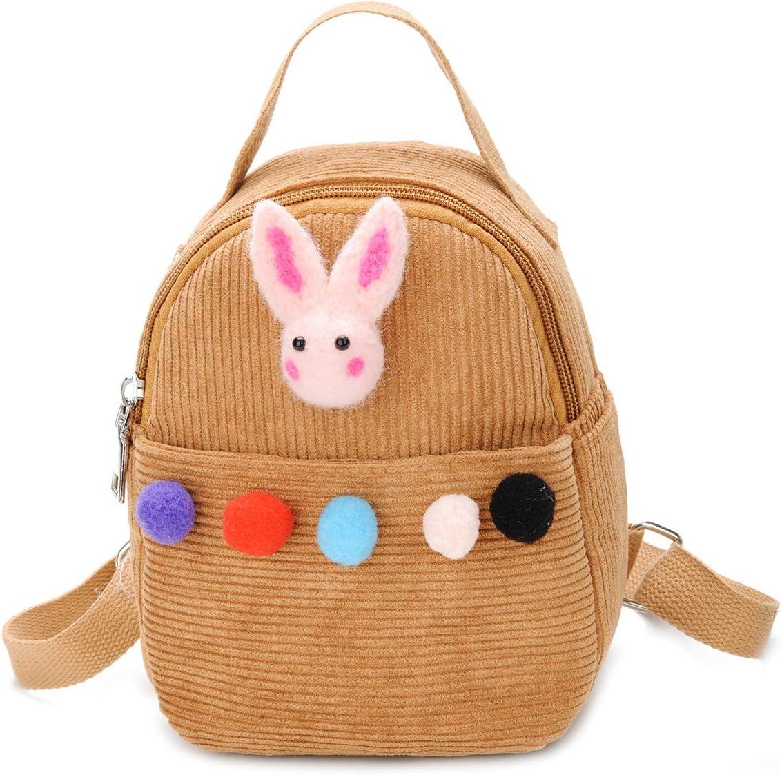 Baby Kid Children Backpack School Bag Kindergarten Toddler Cartoon Animal Boy Girl Cute Shoulder Bag Light Brown