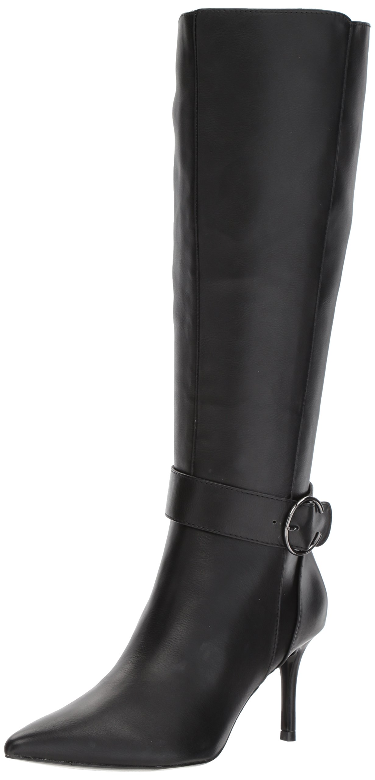 Nine West Women's Moretalkn Synthetic Knee High Boot, Black Synthetic, 5 Medium US