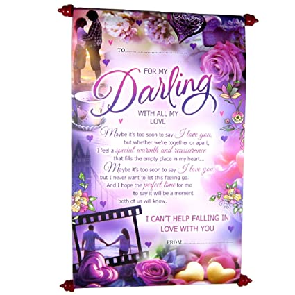 Scroll greeting cards on apology forgiveness massage darling with scroll greeting cards on apology forgiveness massage darling with all my love printed multicolor m4hsunfo