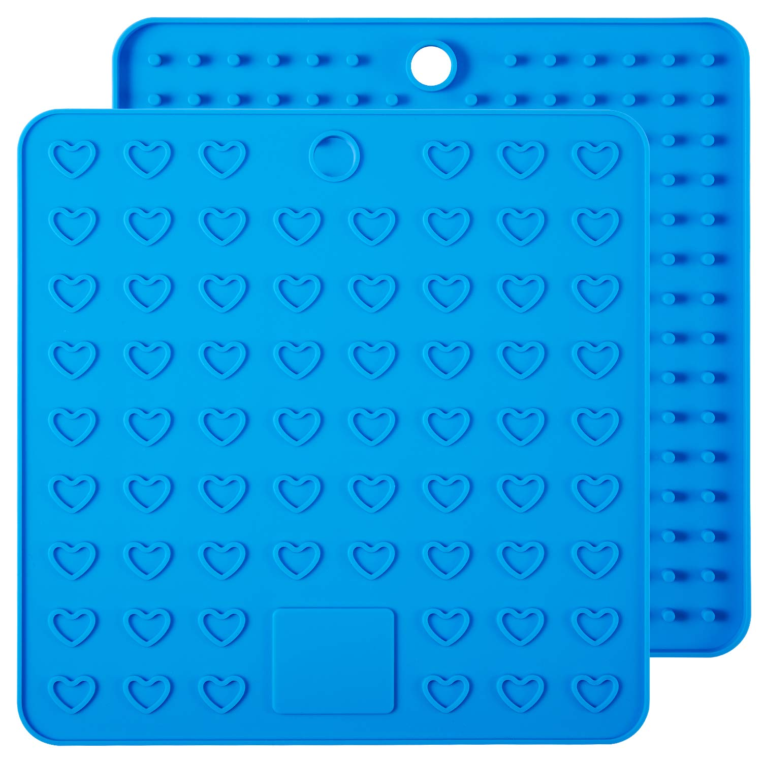 Non Slip Spoon Rest and Large Coasters ME.FAN Silicone Pot Holder /& Trivets 2 Set Silicone Hot Pads,Potholders and Hot Mitts Flexible Durable Black Insulated