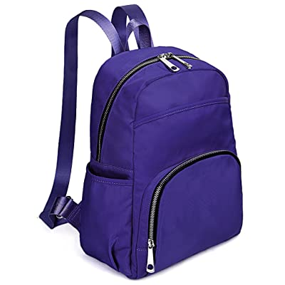 UTO Lightweight Nylon Backpack Rucksack School College Bookbag Travel Bag  Shoulder Purse Purple eb905e6046dcd
