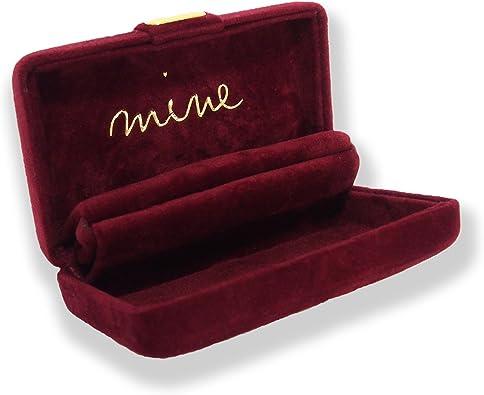 ジュエリーケース 携帯用 ジュエリーボックス アクセサリーケース ネックレス や リング を かわいい コンパクト な mine ケース に入れて  持ち運び 旅行 や トラベル にも便利 (1 ワイン)