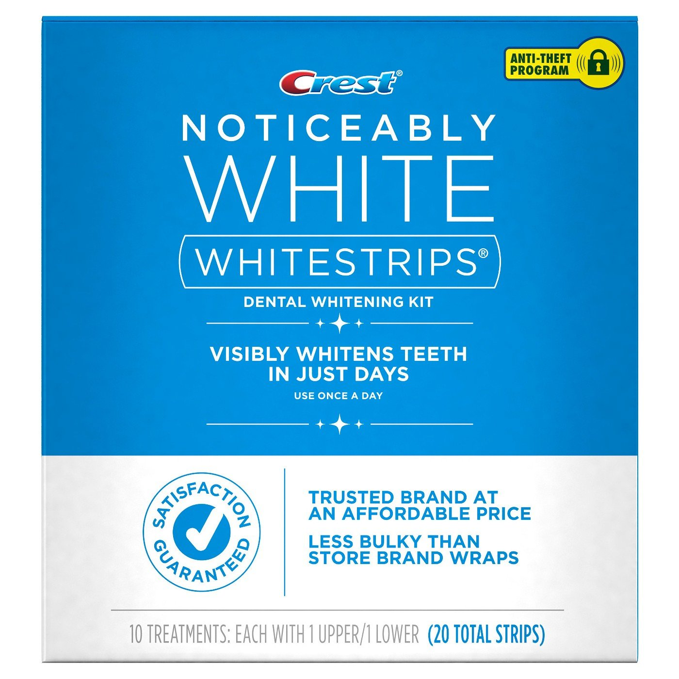 Crest Noticeably White Whitestrips, 10 Treatments, (20 Total Strips) by Crest