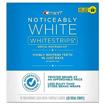 Amazoncom Crest Noticeably White Whitestrips 10 Treatments 20