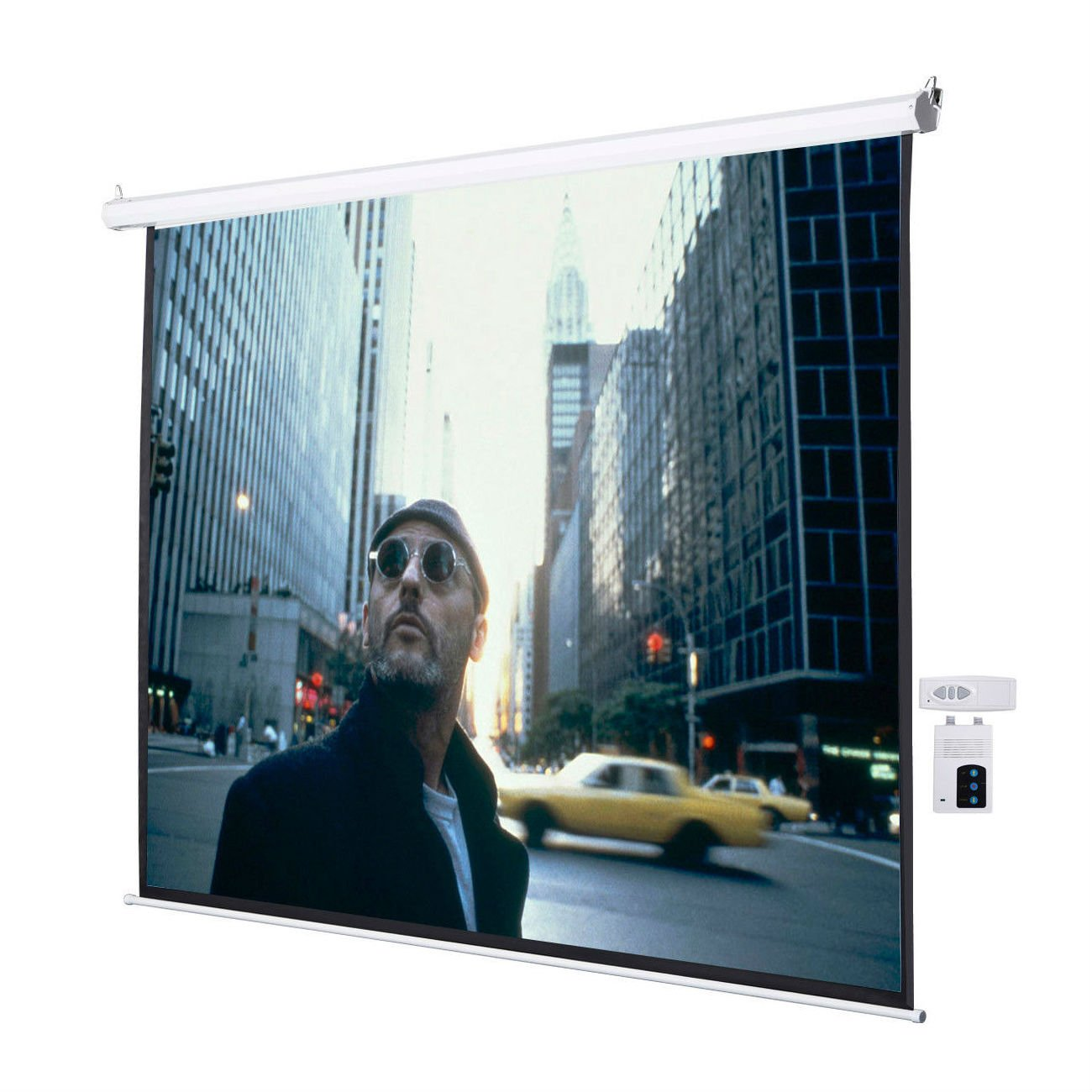 120'' 4:3 Electric Auto Projector Projection Screen 96''x72'' Remote Control Most Viewed
