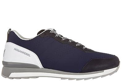 Hogan Rebel chaussures baskets sneakers homme en cuir r261 3d blu EU 39.5  HXM2610U400CWU0XBH