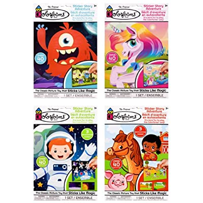 The Original Colorforms Sticker Story Adventures, 4-Set Bundle: Arts, Crafts & Sewing