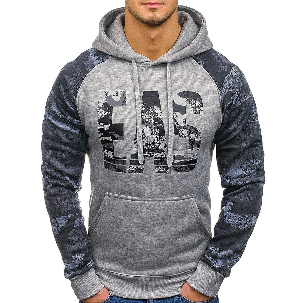 ♚Sudadera con Capucha otoñal de los Hombres, Carta Impresa Casual Outwear Tops Blusa Absolute: Amazon.es: Ropa y accesorios