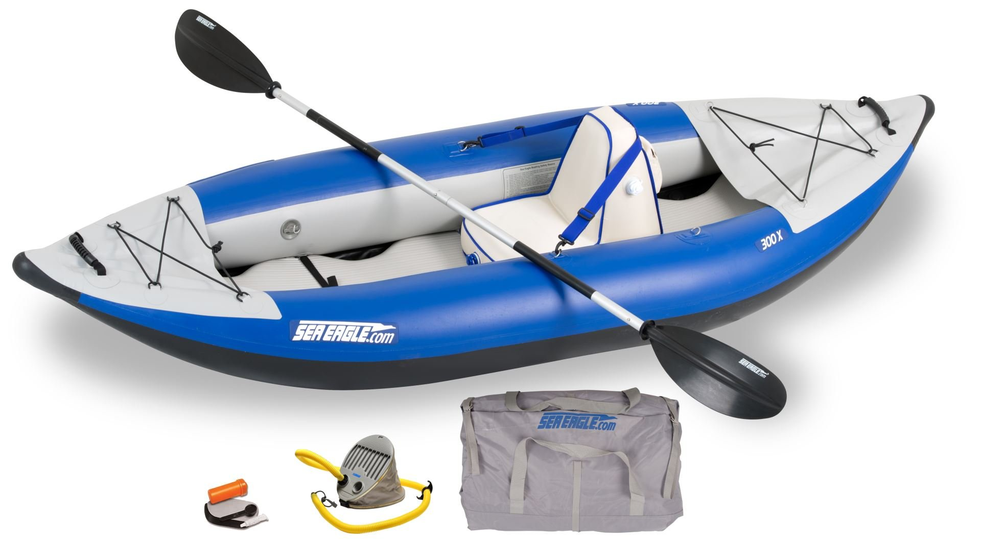 Sea Eagle 300x Explorer Inflatable Kayak with 16 Super-fast Drain Valves