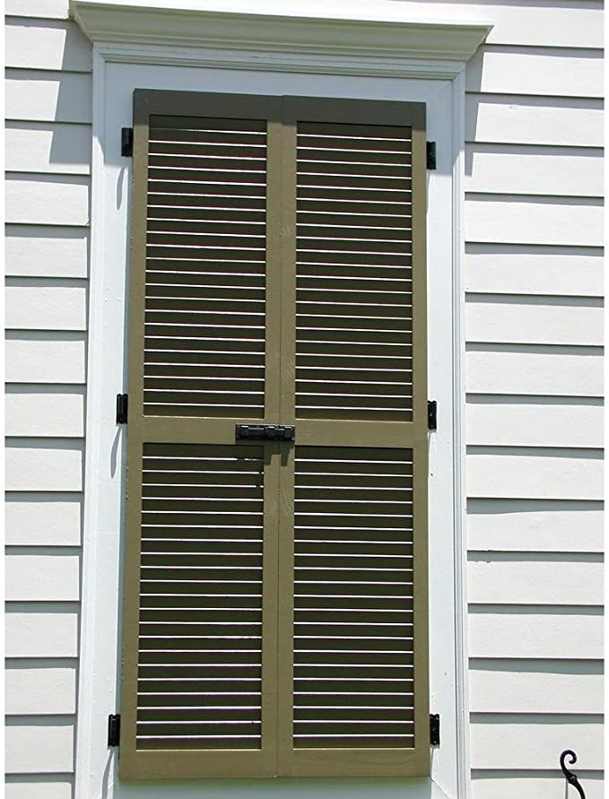 Ekena Millwork Rwl12x045unw Exterior Real Wood Cedar Louvered Shutters Per Pair 12 X 45 Unfinished Home Improvement