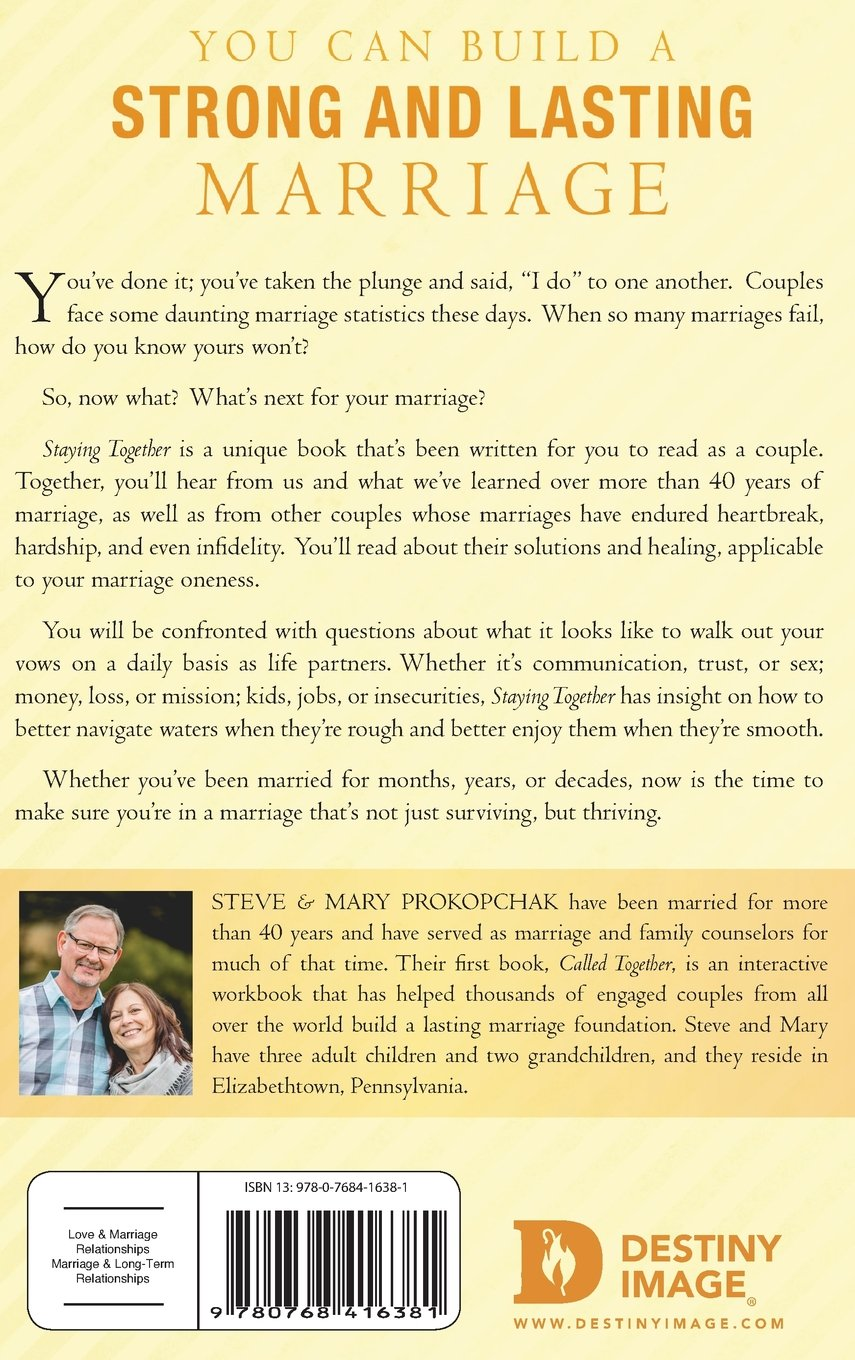 Staying Together: Marriage: A Life-Long Affair: Steve Prokopchak ...