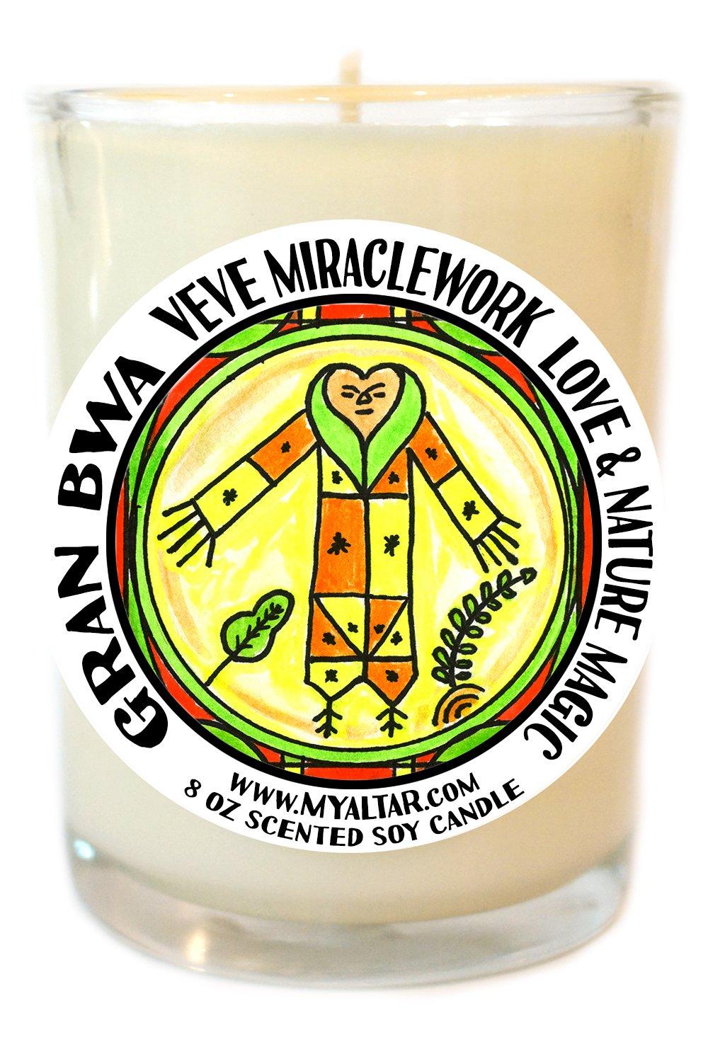 Gran Bwa Veve Miracle Work Healing Love & Nature Magic 8 Oz Glass Candle