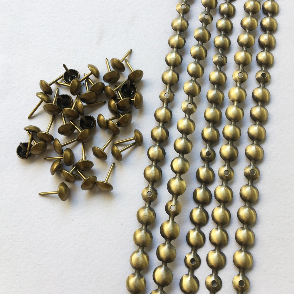 10 meters a lot: 9.5mm/11mm Nickel/Brass/Bronze Plated Decorative Nail Strips/Nailing Tapes,Sofa Tacks,Upholstery Tacks,DIY Furniture Accessory (B:9.5mm brass)