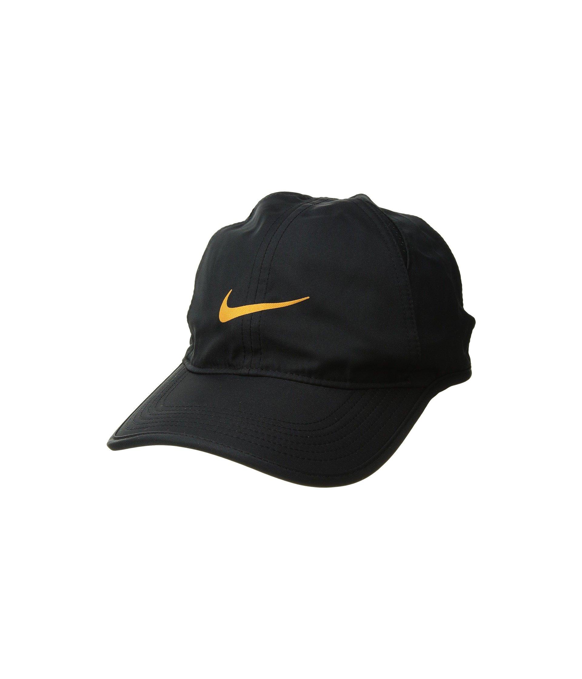 Nike Unisex Court AeroBill Featherlight Tennis Adjustable Cap Black/Black/Orange Peel (ONE Size) by NIKE (Image #1)