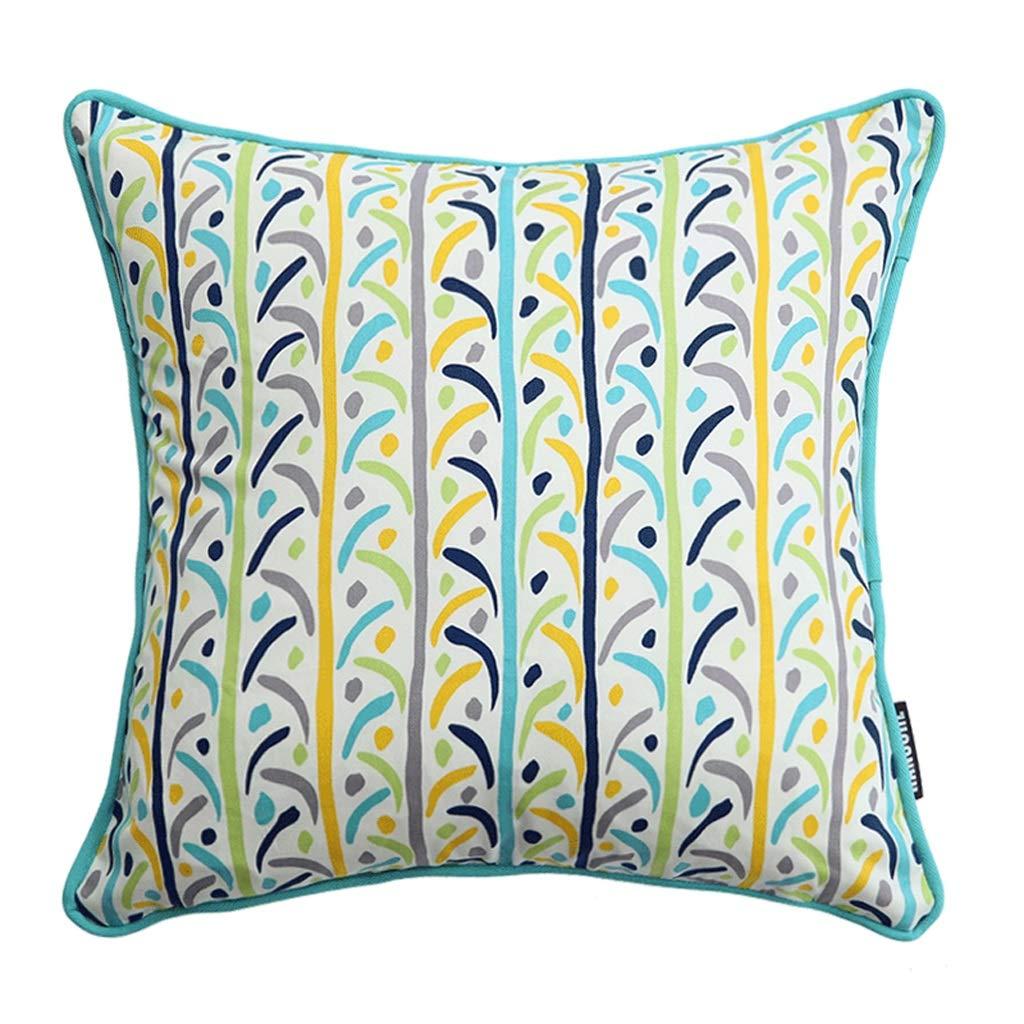 A 55cm55cm QYSZYG Cushion Cover Hug Pillowcase Lumbar Pillow Pillow Sofa Bed Fabric with Core Cotton Home Decoration Pillow (color   B, Size   55cm55cm)