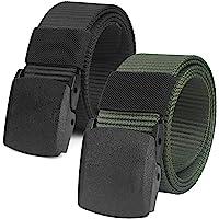 """Chalier 2 Pacchi Cintura Tattica in Tela in Stile Militare da Uomo, 1.5"""" Tessuto in Nylon Cintura con Fibbia"""