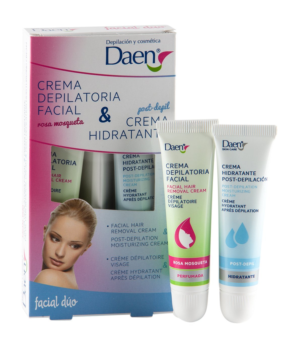 Daen Rosehip Facial Hair Removal and Post Moisturising Cream - by Daen: Amazon.es: Salud y cuidado personal