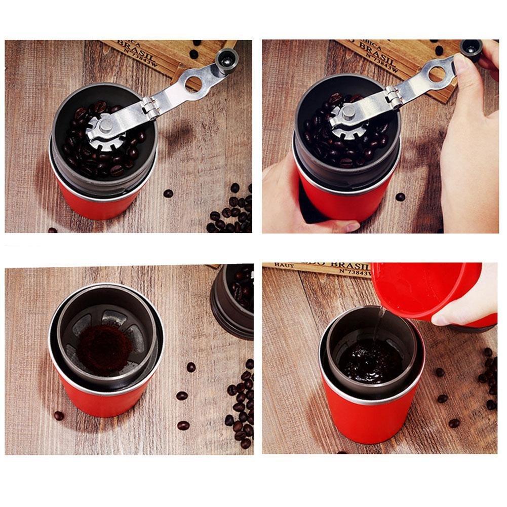 BleuMoo Manual Coffee Maker Hand Pressure Portable Espresso Machine Coffee Pressing Bottle (Red) by BleuMoo (Image #7)